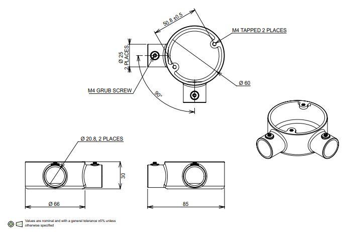 20mm Conduit angle box