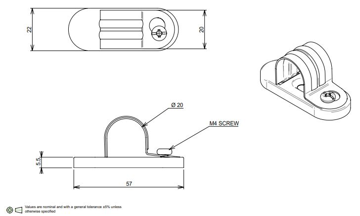 20mm conduit saddle