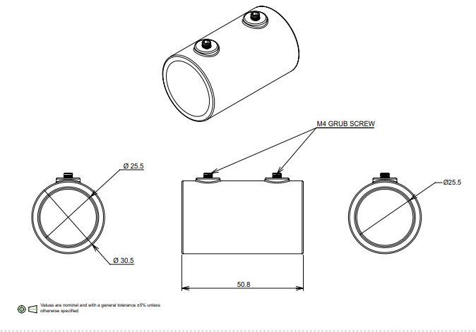 25mm Dia Conduit couplier